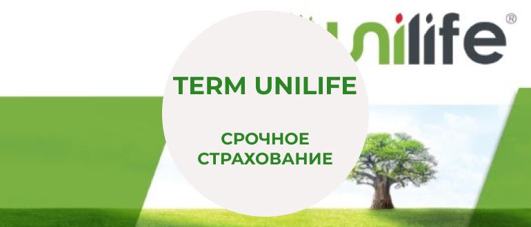 Контракт срочного страхования жизни Unilife Term Assurance