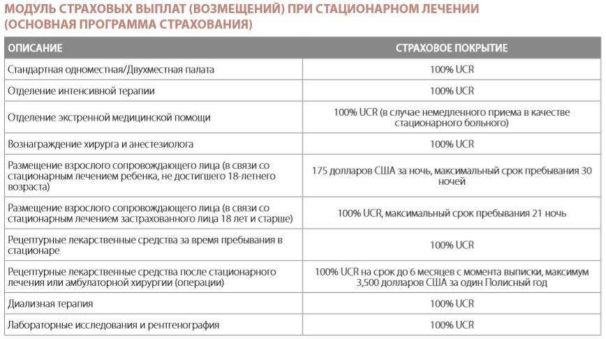 Основные характеристики полиса Protect VIP от Vumi
